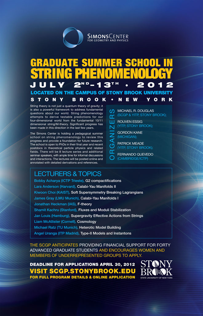 2011- Summer School String Phenomonology poster