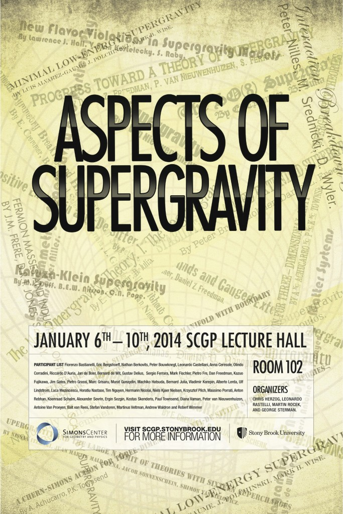 Aspects Of Supergravity  January 6  U2013 10  2014
