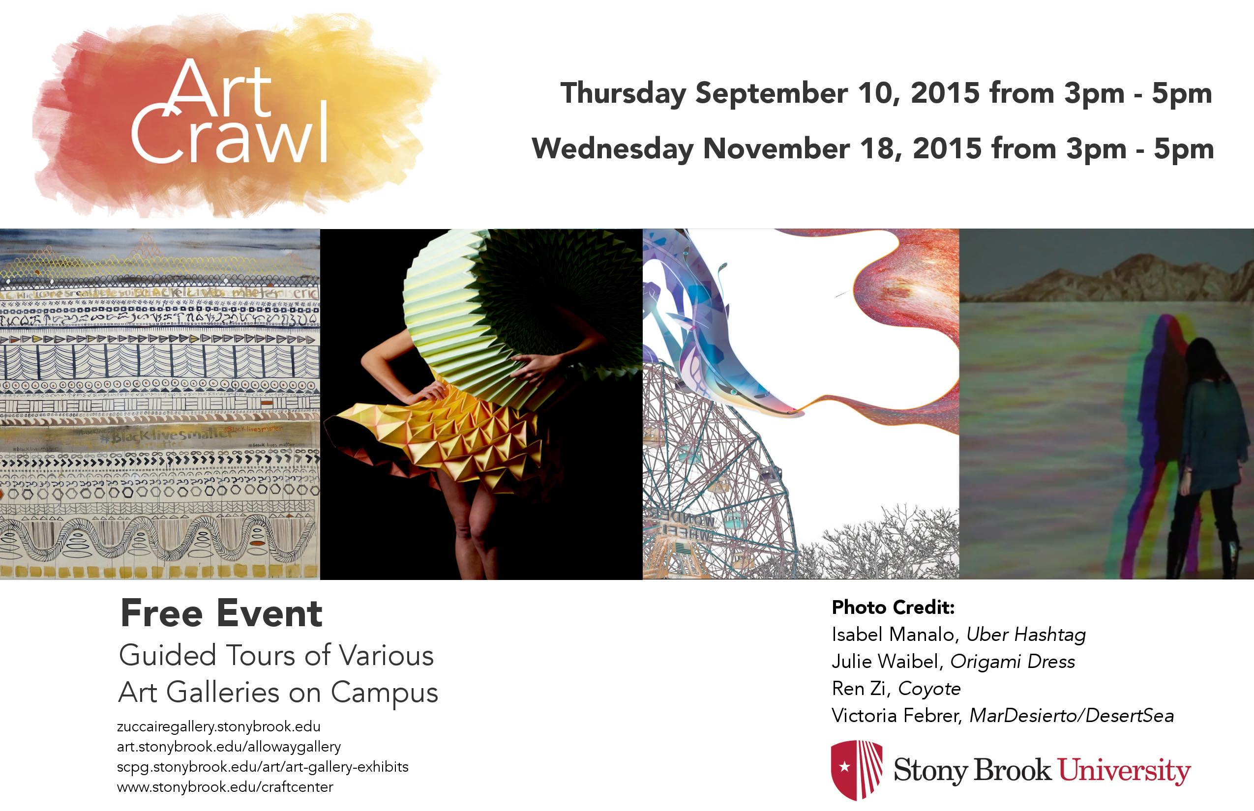 Art Crawl Card Fall 2015 Front