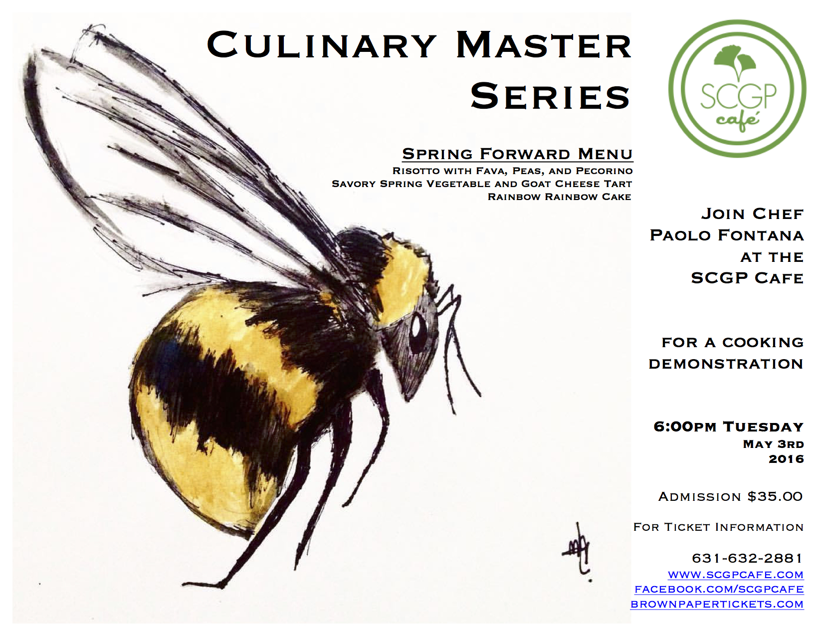 Culinary Master Series Spring Forward 5.2016