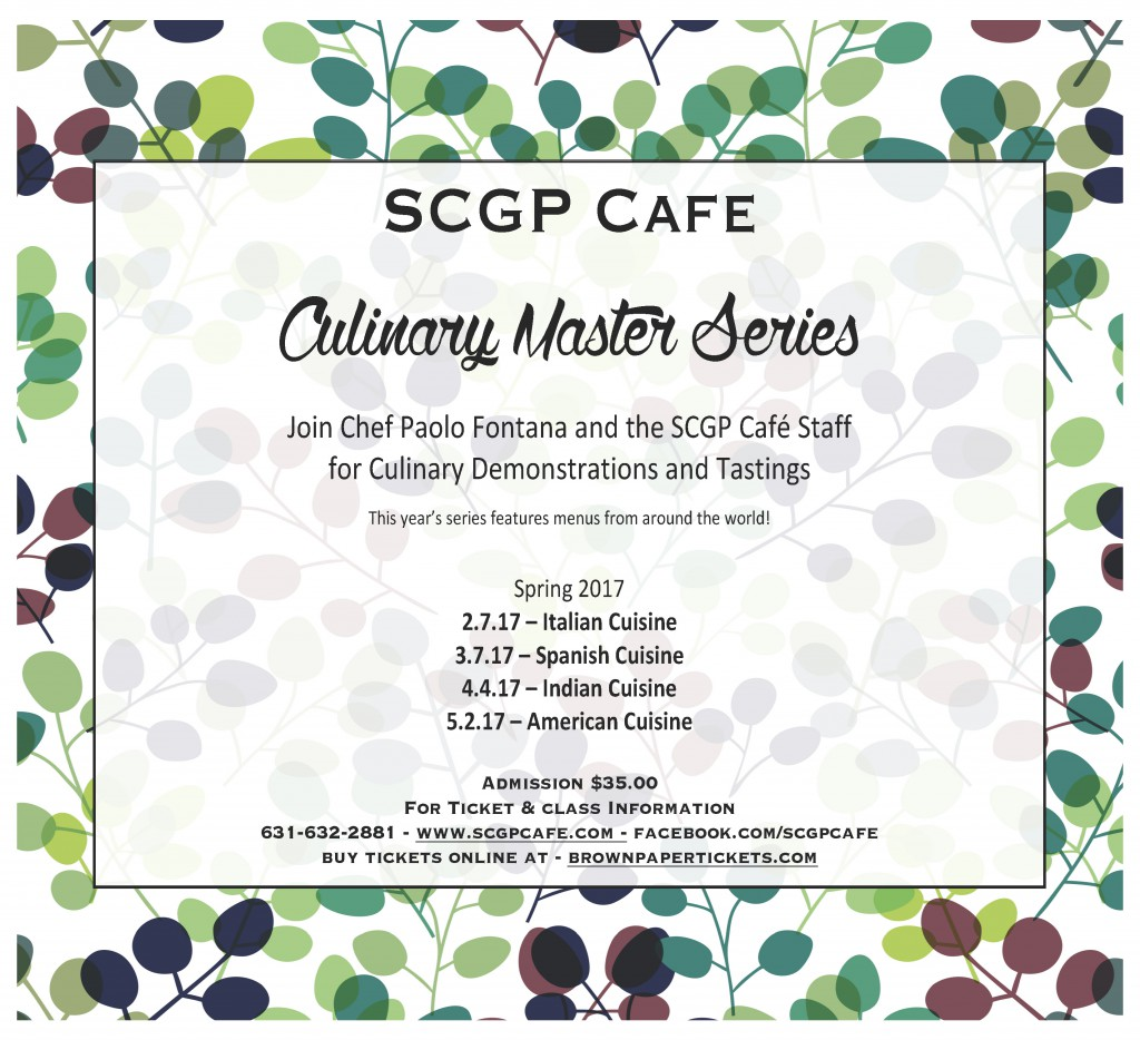 SCGP Cafe Culinary Master Series Fall 2017